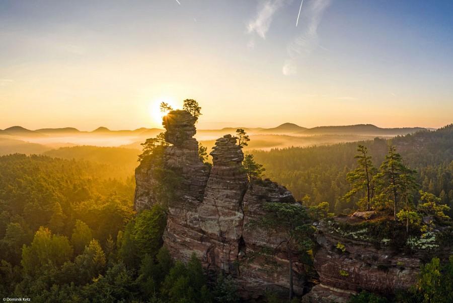 Dahner Felsenlandschaft im Sonnenuntergang