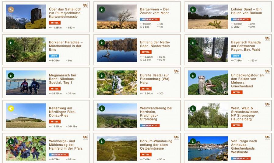 Übersicht aus dem Wandermagazin-Tourenportal