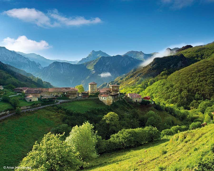 Bergdorf in Asturien